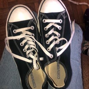 Women's size 9.5 black and white converse